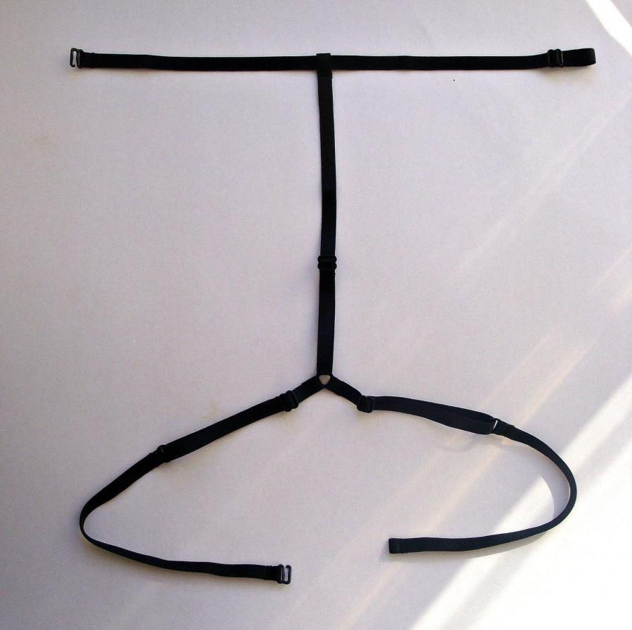 Hochzeit - Collar harness, Ribbel - collar, White body harnesses, Black bondage, Red body harnesses, Erotic, Choker harness, Strappy, Fetish, BDSM