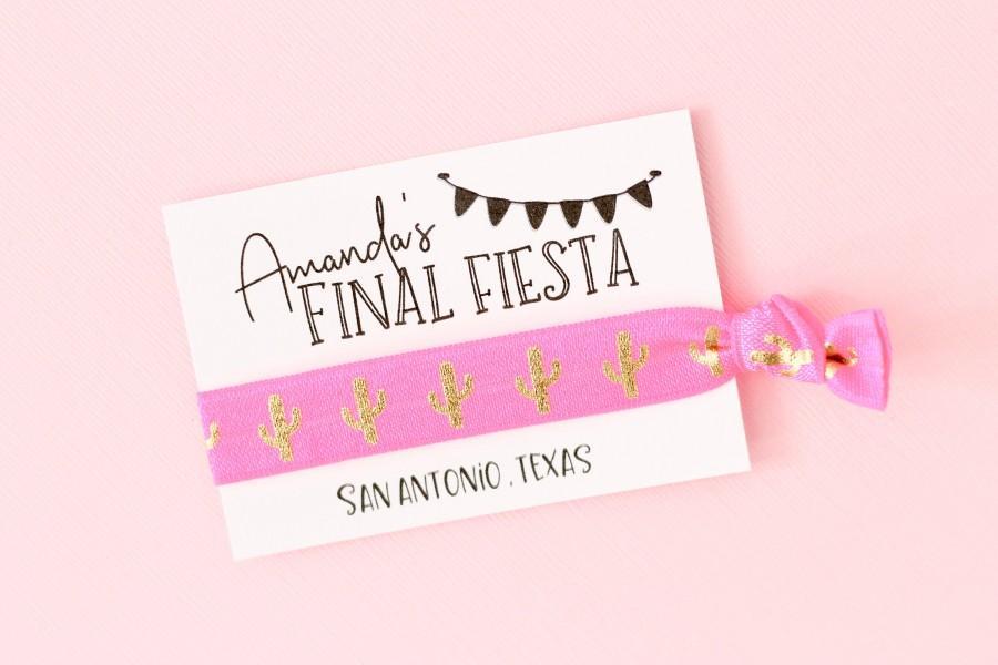 Mariage - Personalized Final Fiesta Hair Ties - Let's Fiesta Hair Tie - Fiesta Hair Ties - Fiesta Bachelorette Party Favors - Bachelorette Party Favor