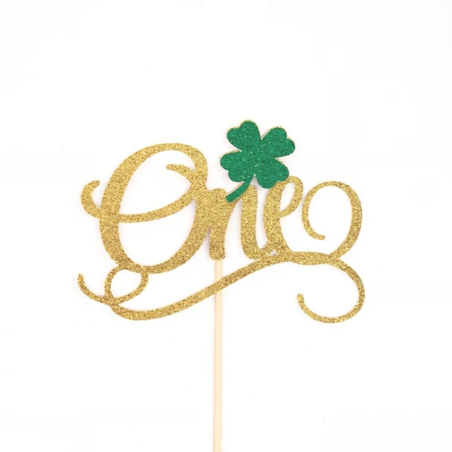 Свадьба - Lucky 1 Cake Topper, Lucky One Cake Topper, 1 Cake Topper, St. Patrick's One Cake Topper, March 1st Birthday Cake Topper, One Cake Topper