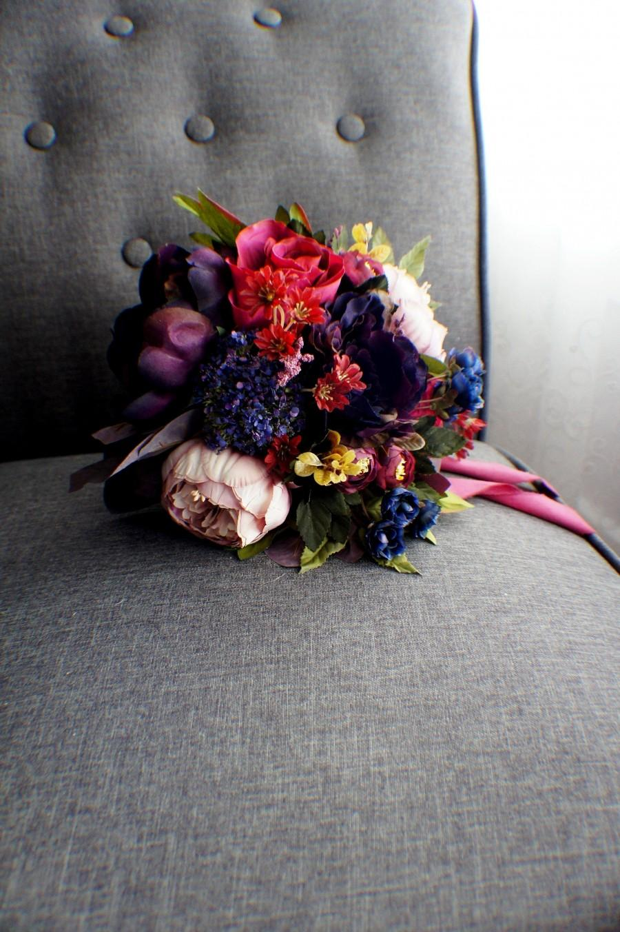 Свадьба - READY TO SHIP, wildflower bouquet, peony bouquet, rose bouquet, wedding bouquet, bridal bouquet, wedding flowers, boho bouquet