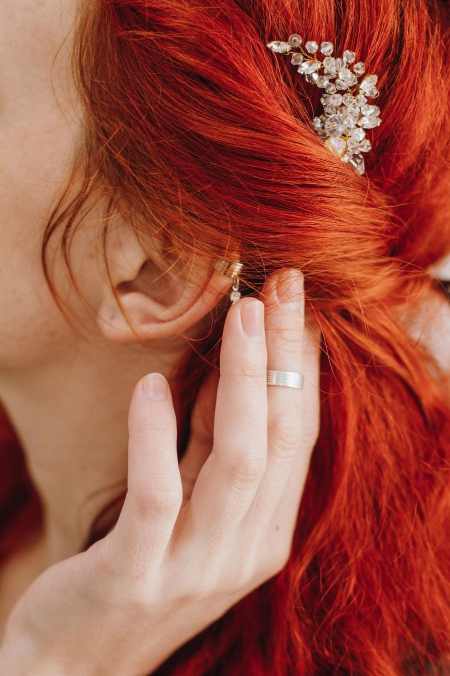 Wedding - Delicate crystal hair pin Vintage Crystal Bridal Accessories White hair pin Bridesmaid Clips Side Comb Bohemian hair pin White hair pin