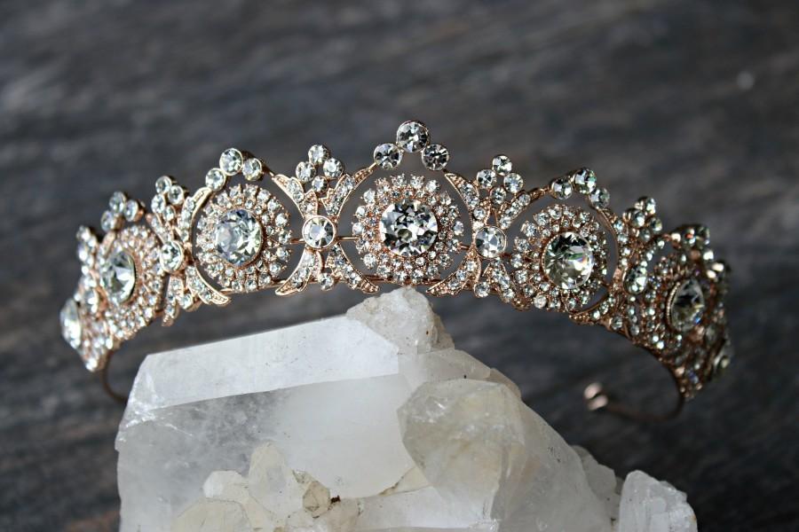 Nouveau cristal de bourgogne gold tiara