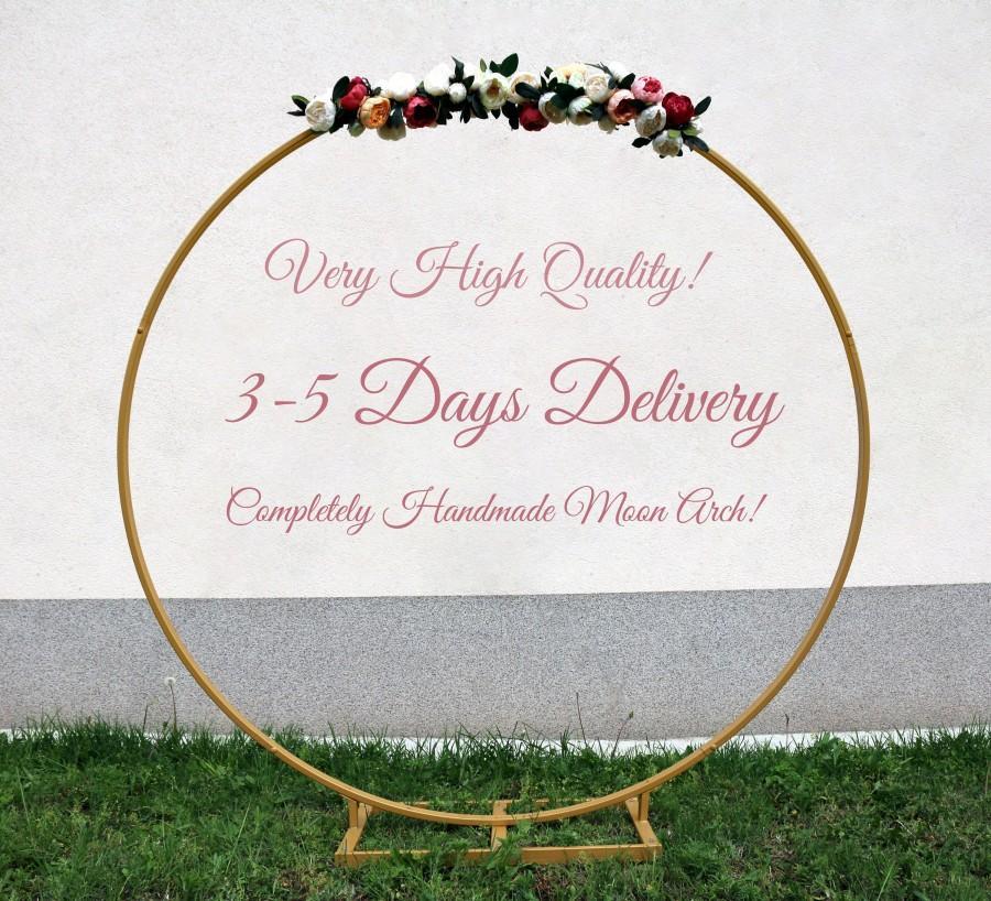 Mariage - Wedding Arch, Metal Round Wedding Arch, Circle Wedding Arch, Moon Gate Arch, Round Wedding Backdrop, Circle Wedding Backdrop, Flower Arch
