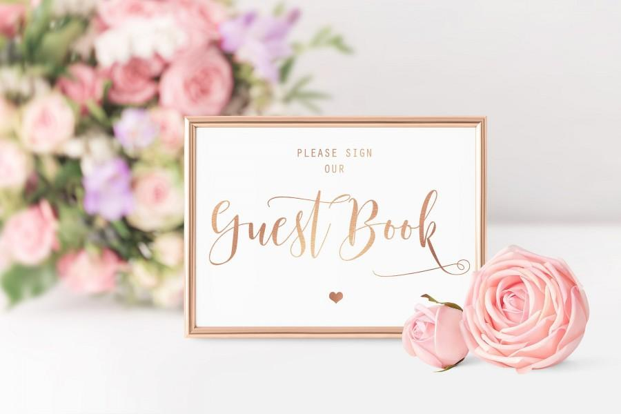 Mariage - Please Sign Our Guest Book, Wedding Sign, Wedding Day Signs, Guestbook, Wedding Cards, Wedding Signage, Wedding, Wedding Print, Rose Gold,