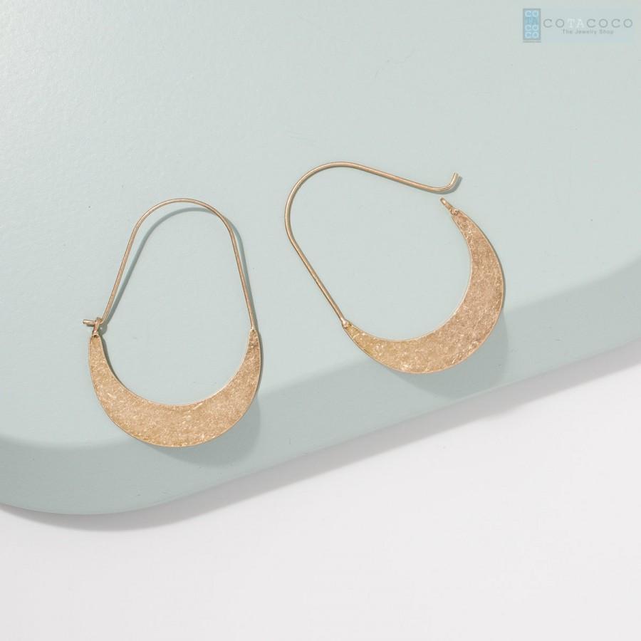 زفاف - Crescent earrings, Geometric earrings, Hoop earrings, Statement earrings, Dainty earrings, Minimalist earrings, Metal earrings