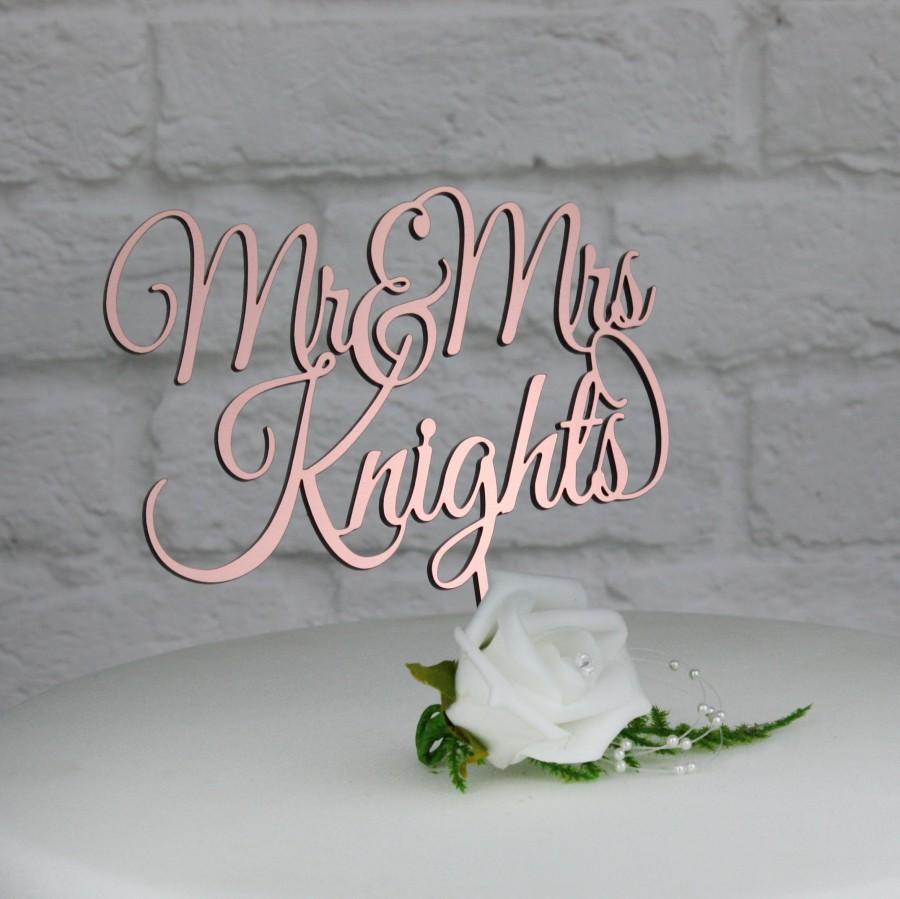 زفاف - Wedding Cake Topper. Rose Gold,Gold,Silver Cake Decoration. Personalised Mr & Mrs Cake Topper for Wedding,Anniversary,Special Occassion.