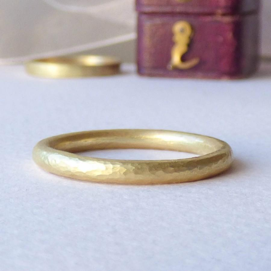 Свадьба - Ethical Wedding Ring - Wedding Band for Women - Gold Wedding Ring - Unique Wedding Ring - 18ct Gold Halo Band - Hammered Gold Band