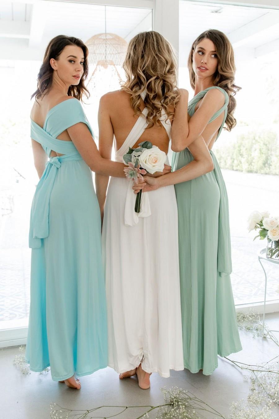 Mariage - Bridesmaid Dress/ Infinity Bridesmaid Dress/ Convertible Wedding Dress/ Wrap Dress/ Prom Dress/ Multiway Bridesmaid Dress (Bridesmaid Dress)