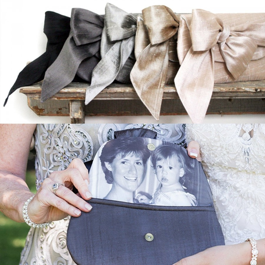 زفاف - Personalized Photo Clutch Bag, Picture Clutch, Photo Purse, Purse with Picture