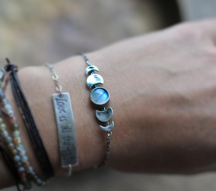 Mariage - phases bracelet, celestial jewelry, moon bracelet, phases of moon, moonstone bracelet, phase jewelry, moon bracelet, waxing moon