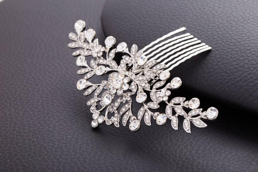 Свадьба - NORA Crystal Bridal Art Deco Hair Comb 1920s, Great Gatsby Vintage Inspired Hairpiece Bridal Hair Accessory Headpiece Crystal Hair Comb