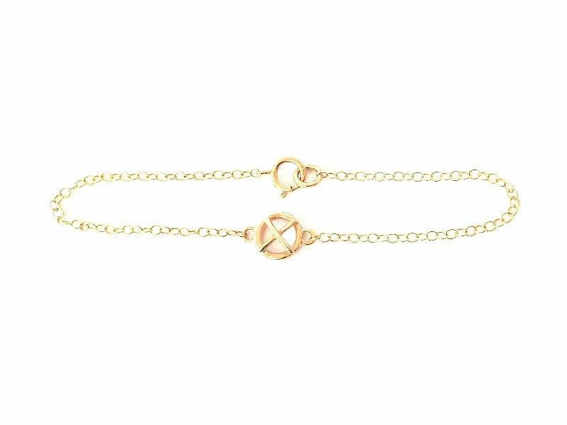 Свадьба - Small Kiss Hug Bracelet x1