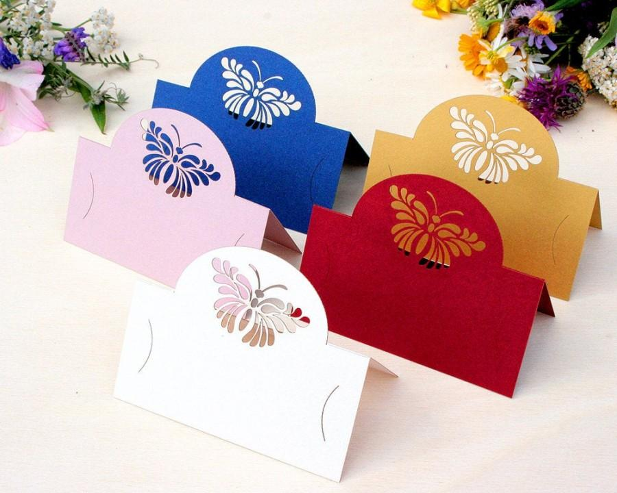 Свадьба - Elegant Laser Cut Wedding Table Cards, Place Cards, Card with name, Name Cards, Birthday cards, Party table cards