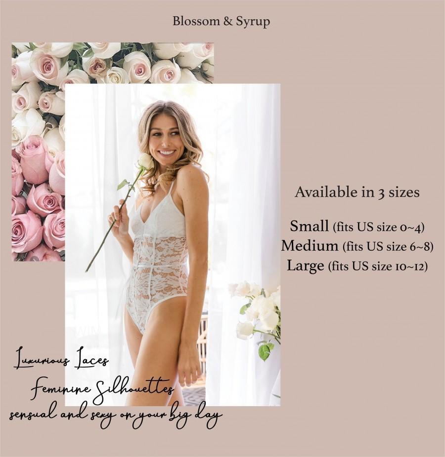 Mariage - Bridal lingerie/ Lace lingerie set/ Wedding lingerie/ Teddy lingerie/ Lingerie set garter/Wedding Bride underwear/Honeymoon Lingerie (TEASE)