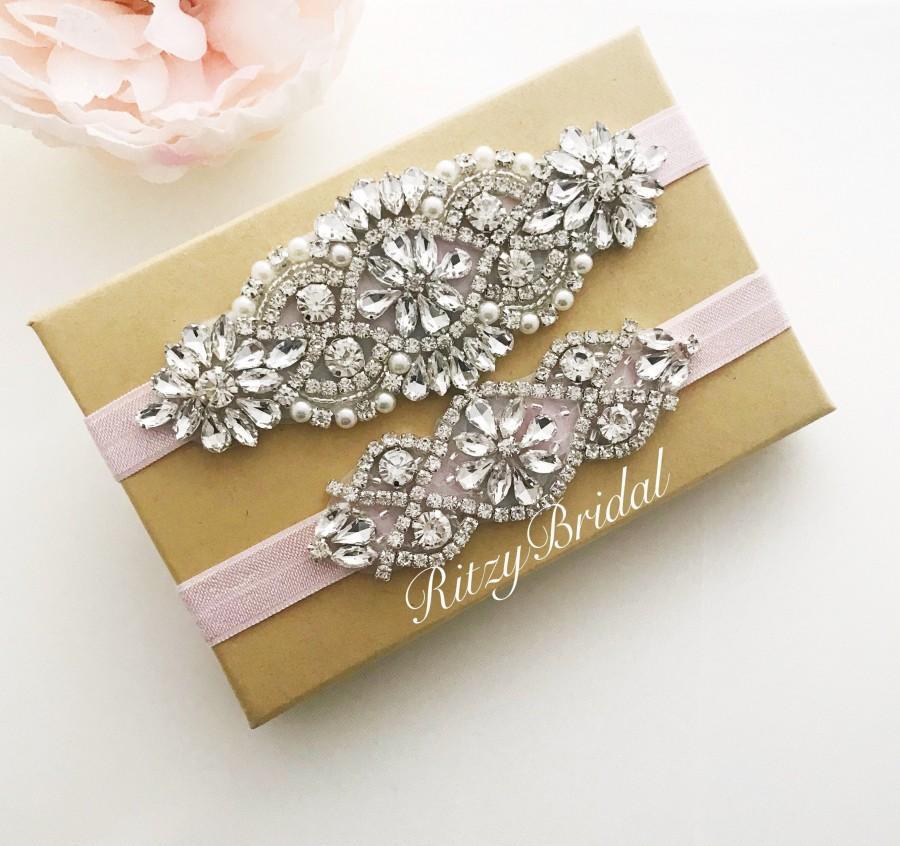 Wedding - wedding garter, bridal garter, garters for wedding, garter belt, garters, blush garter sets, wedding garter sets, blush wedding garter,