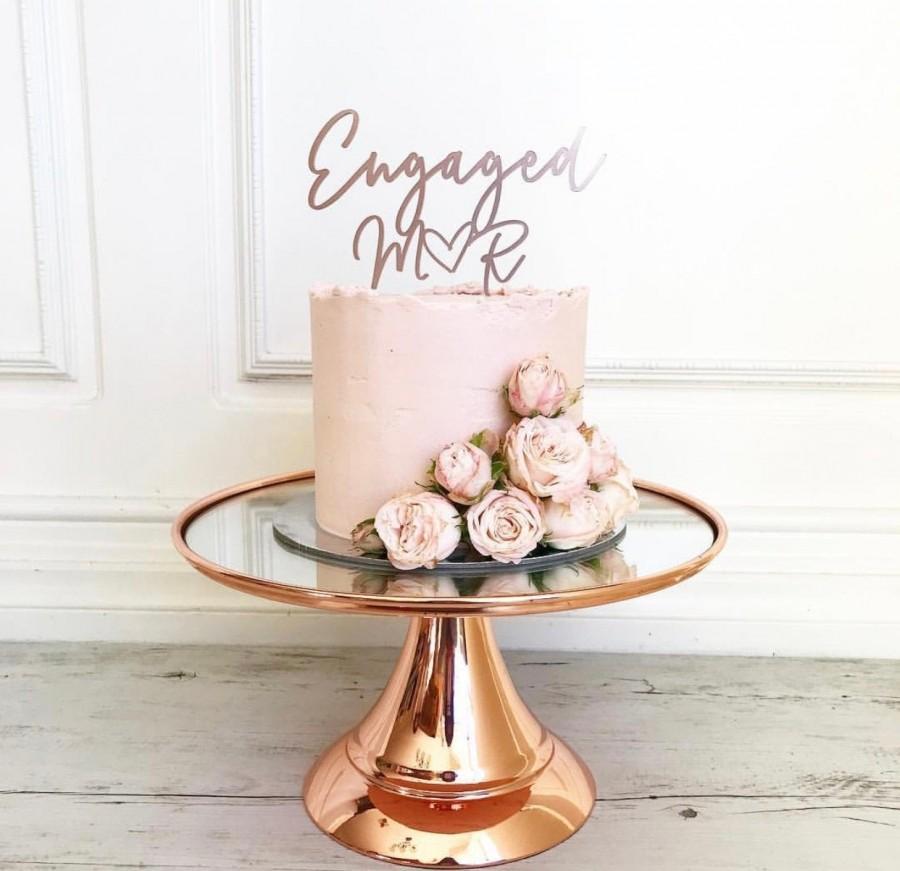 Mariage - Engaged cake topper