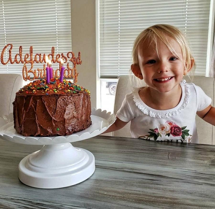 Mariage - Name/Age/Birthday Cake Topper