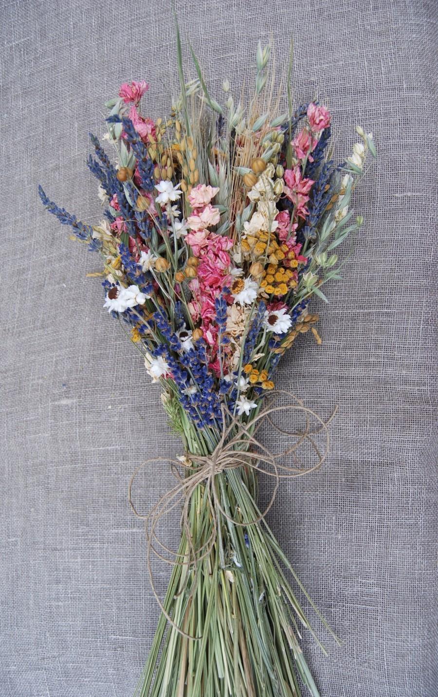 زفاف - Deposit Save the Date Warm Summer Wildflower  Pink and Yellow Wedding Flowers Bouquets, Boutonnieres, Corsages Lavender, Larkspur, Daisies
