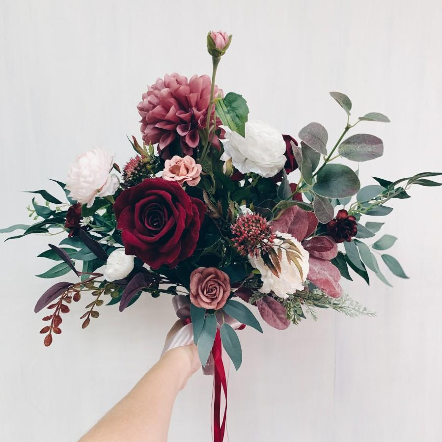 Свадьба - Wedding bouquet, Bridal bouquet burgundy, Wedding flowers, bouquet wedding burgundy