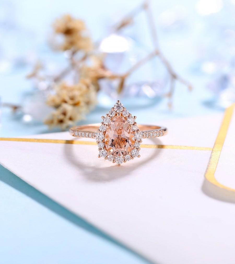 Свадьба - Antique Morganite engagement ring