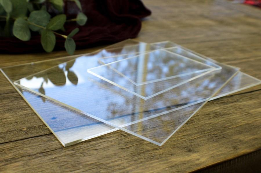 Hochzeit - Clear Acrylic Blanks