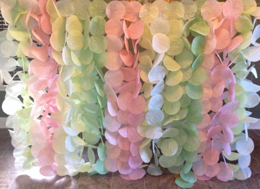 Wedding - Blush and Light Green Garland Backdrop