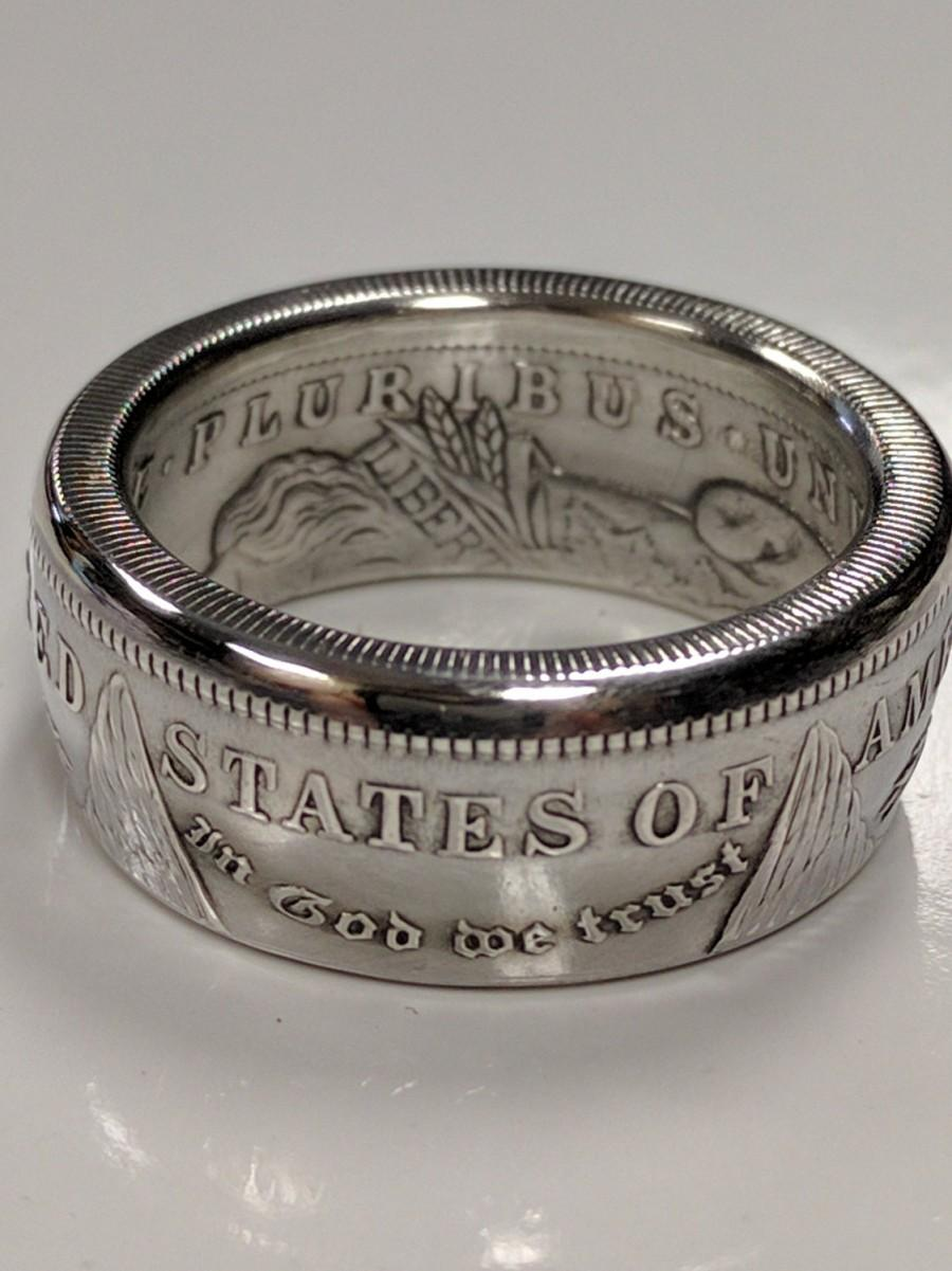 Wedding - Coin Ring for Men – Morgan Silver Dollar Coin Ring Makes a Unique Ring for Him and a Beautiful Coin Jewelry Piece in 3 Finishes