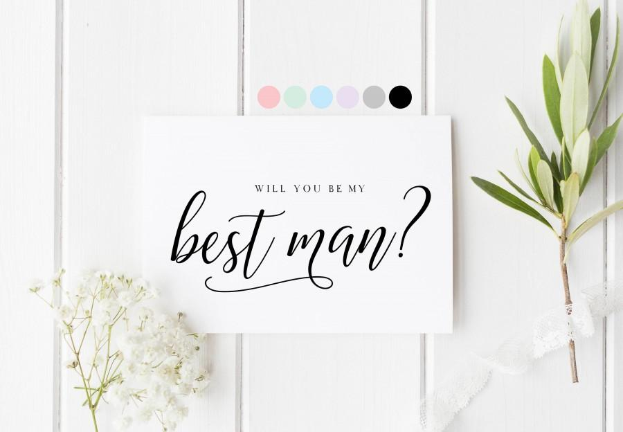 Wedding - Will You Be My Best Man, Card For Best Man, Best Man Proposal Card, Best Man Request Cards, Be My Best Man, Wedding Card For Best Friend