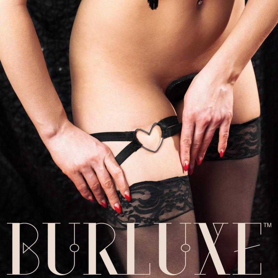 Wedding - Burluxe Corazon Heart Detail Elastic Burlesque Single Garter