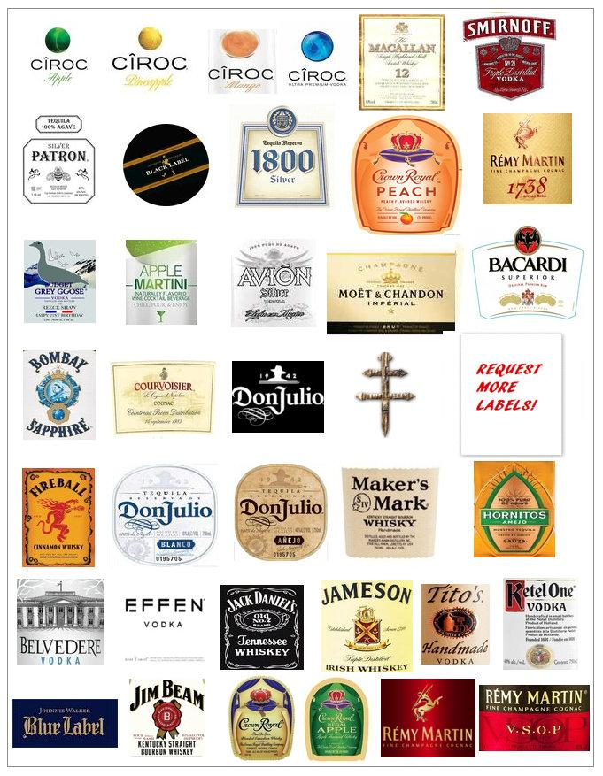 زفاف - Mini edible liquor labels, strawberry labels, edible bottle labels, cake toppers, cupcake toppers, cognac cake topper, tequila cake topper,