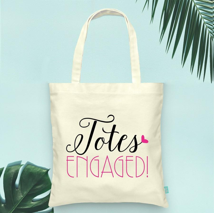 Свадьба - Totes Engaged Engagement Tote- Wedding Welcome Tote Bag