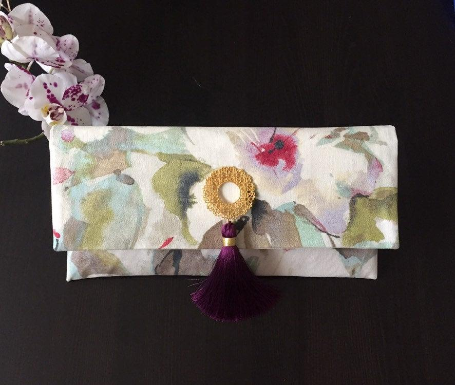 Mariage - Clutch/ Woman purses / Fabric Bag/ Wedding clutch / Women Accessories