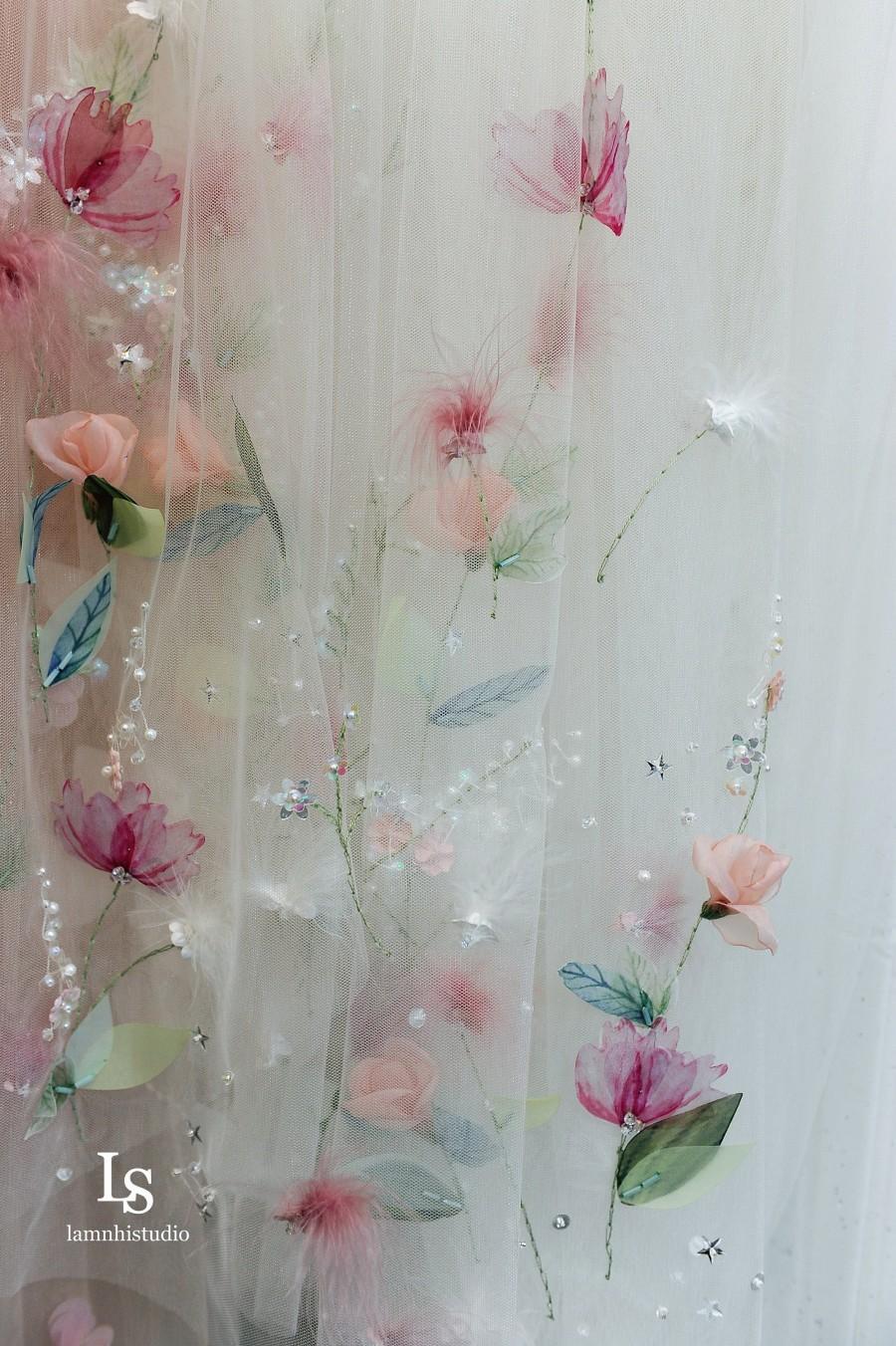 Свадьба - Ls44/3D flower veil/1 tier veil/chapelveil/ custom veil