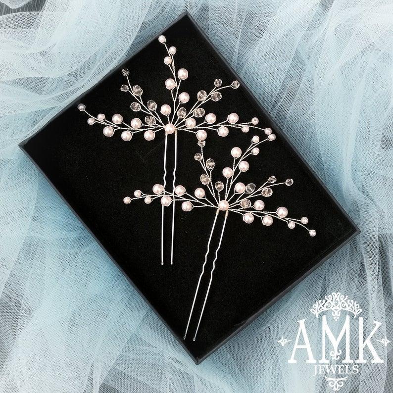 Свадьба - Bridal hair pin, wedding accessory for hair
