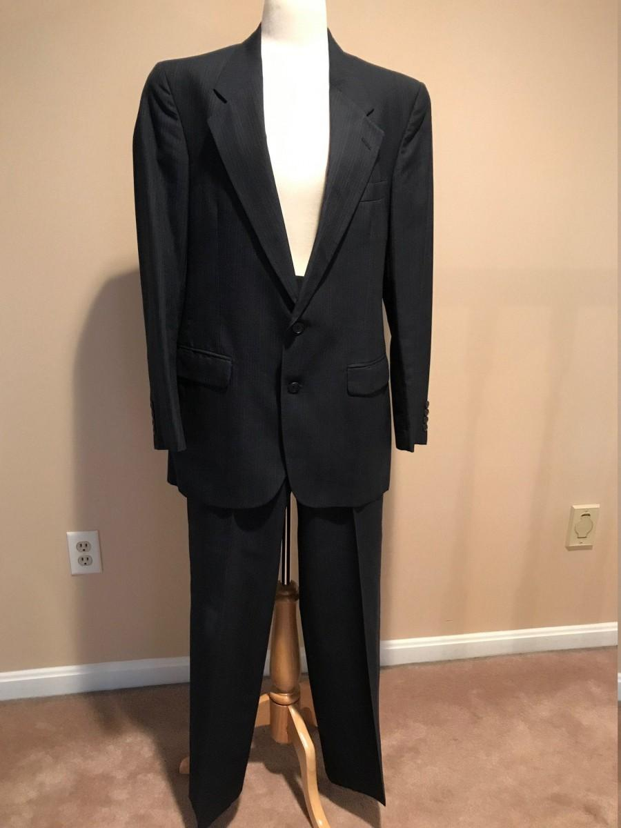 Wedding - Vintage 1990s Men's Navy Suit
