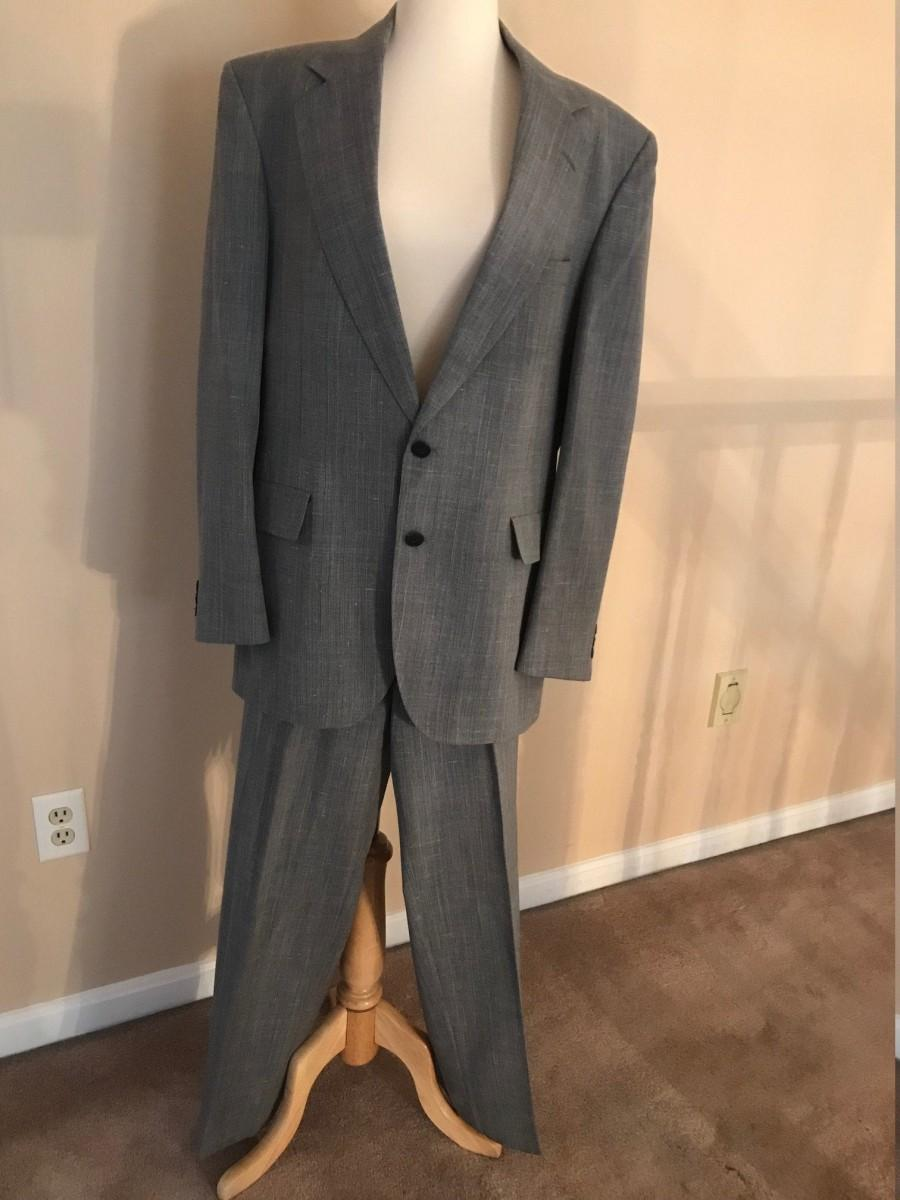 Wedding - Vintage Adams Row Steel Gray Men's Suit