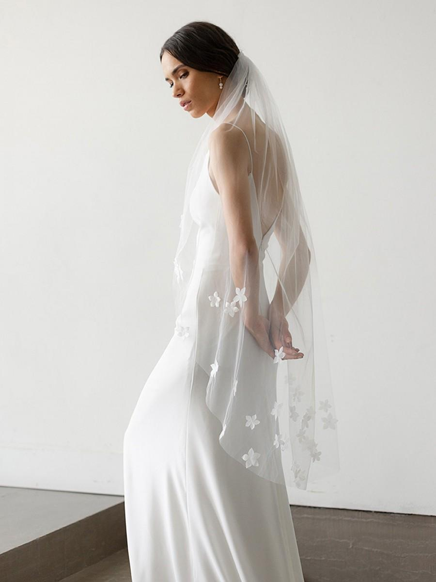Свадьба - Chiffon Floral Veil