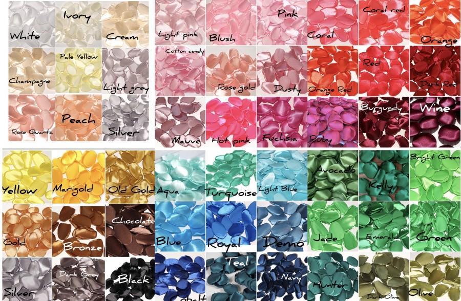 Hochzeit - Silk Rose Petals Wedding Artificial Flowers 50+ Colors Mix & Match