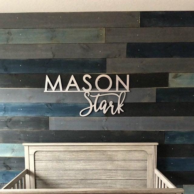 Свадьба - Personalized First and Middle Name Sign or First and Last, Custom Name Sign, Wooden Sign, Laser Cut Name Sign, Backdrop Sign, Nursery Sign