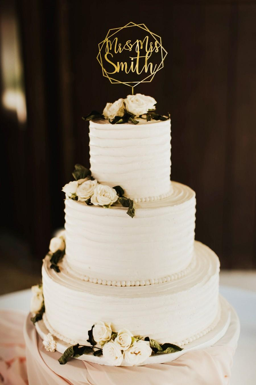 Mariage - Personalized Wedding Cake Topper - Mr and Mrs Cake Topper - Rose Gold, Silver - WCT03