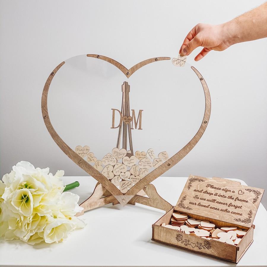 Mariage - Wood Wedding Guest Book Alternative from WeddingByEli - Wedding Decor and Wedding Gift