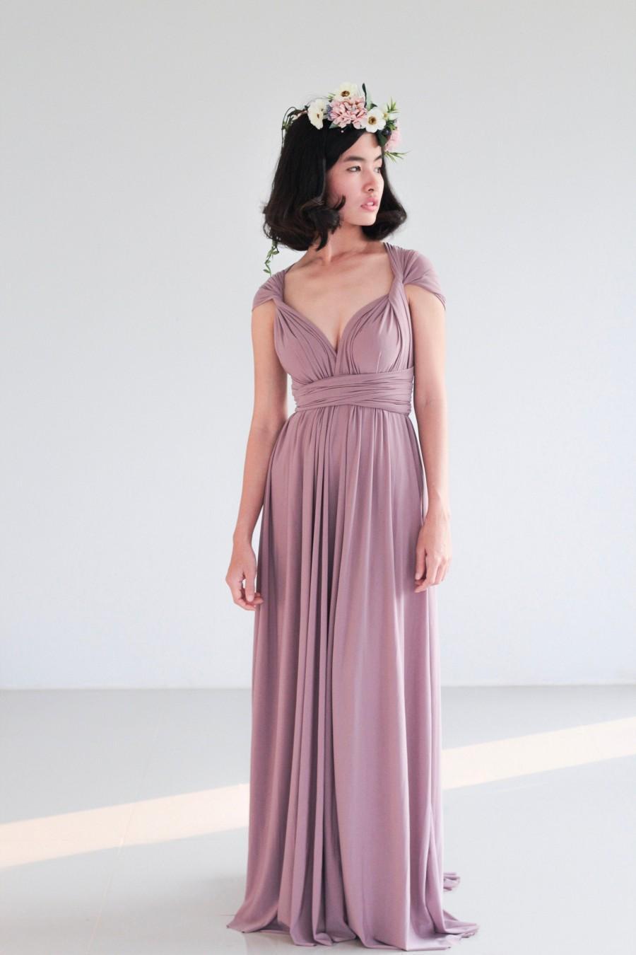 Wedding - Infinity Dress, Mauve purple Infinity Dress, Bridesmaid Dress, Prom Dress, Convertible Dress, Wrap Dress