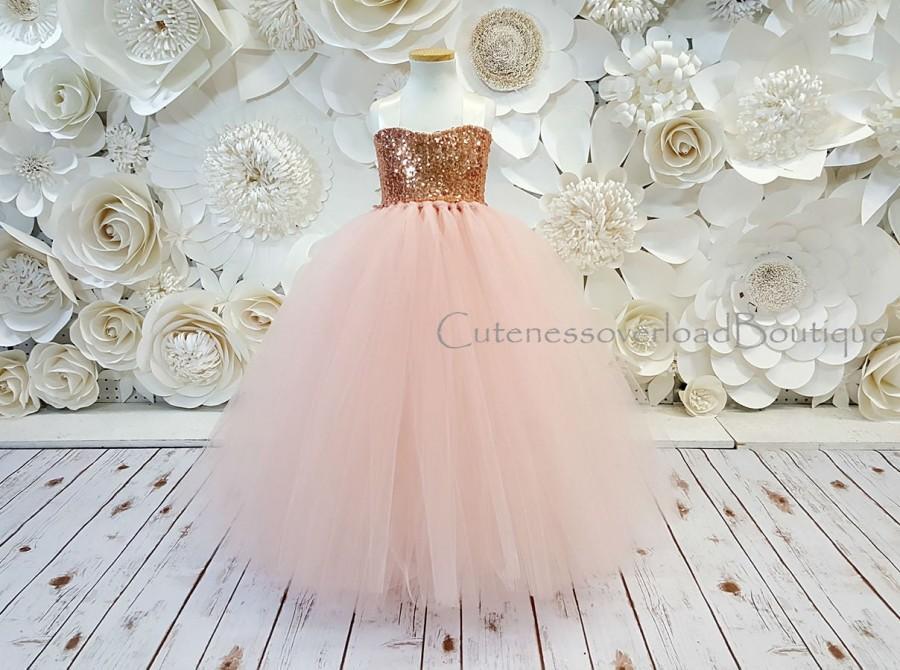 Mariage - Blush Flower Girl Tutu Dress-Blush Dress-Blush Tutu Dress-Blush Bride Dress-Blush Tutu-Blush Wedding Tutu Dress-Blush Birthday Tutu.