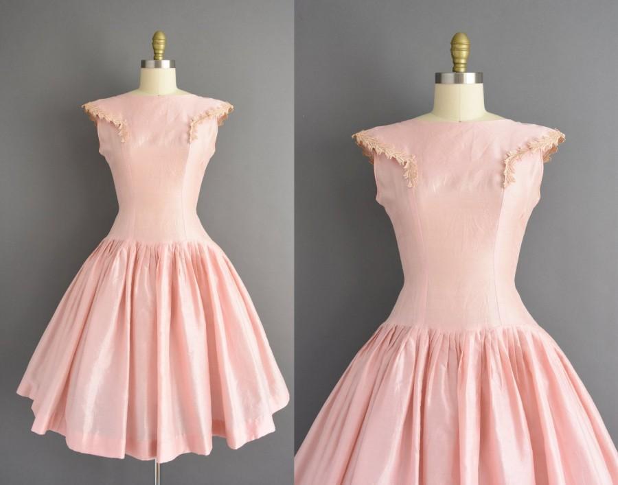 Wedding - vintage 1950s dress