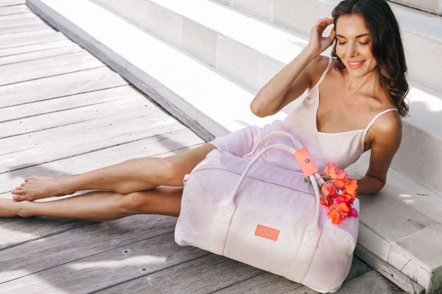 زفاف - Valentine's Day Gift Personalized Duffle Bag, Monogrammed Weekender Bag Bridesmaid Gift, Personalized Weekender Bridesmaid Bag Gift