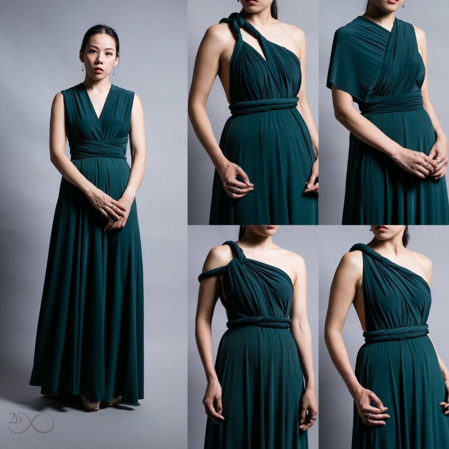 Wedding - Infinity Dress : Dark Green