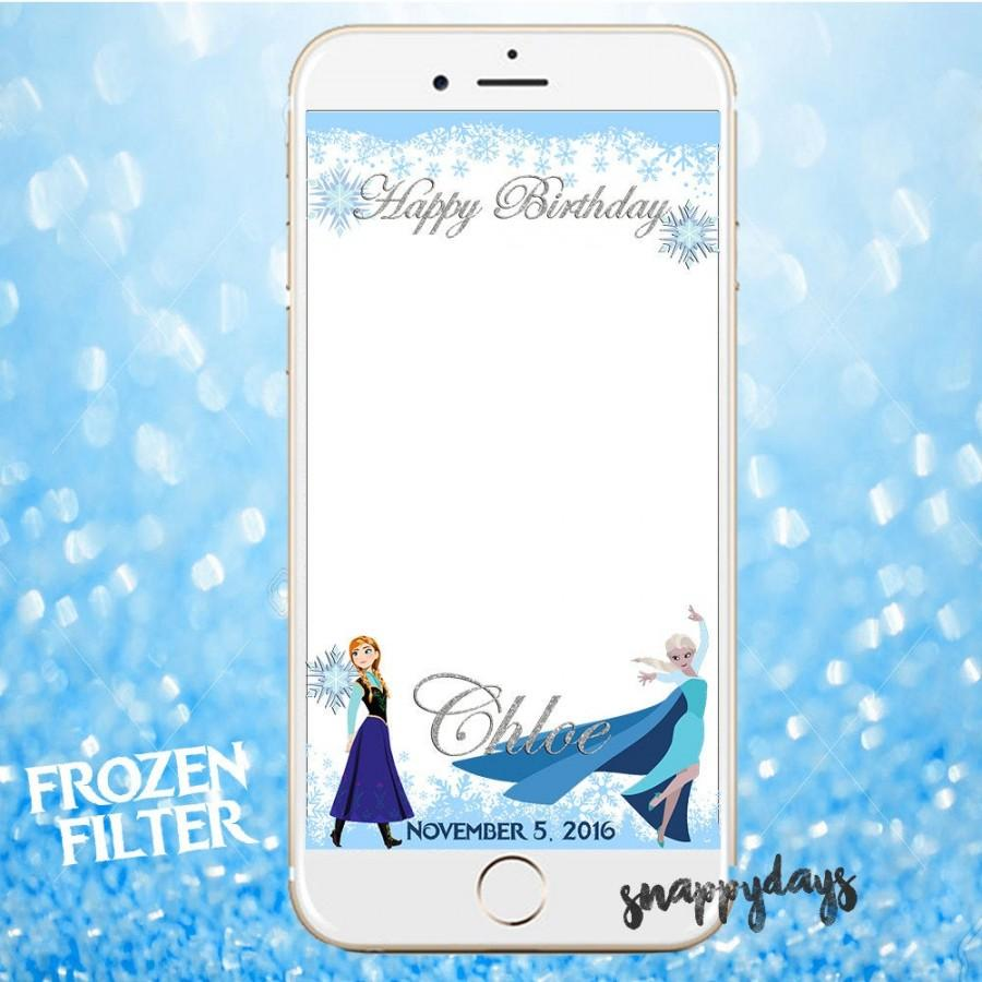 Wedding - SNAPCHAT Disney Princess FROZEN Geofilter