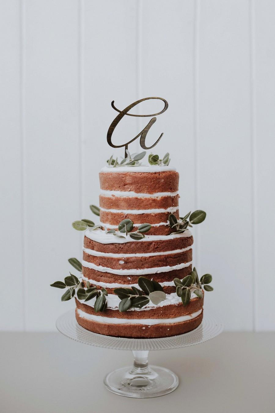 Wedding - Wooden Cake Topper