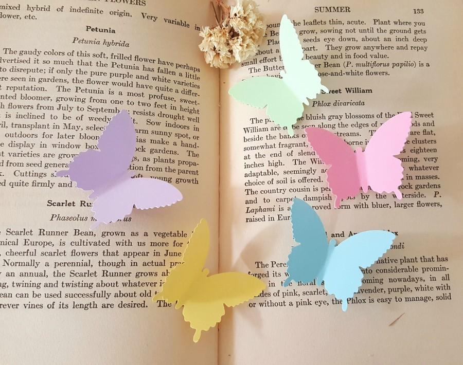 Wedding - Butterfly die cuts,Pastel colors Butterfly Cut outs,Lavender Butterfly Cut outs,Wedding Decor,Paper butterflies,Spring decorations
