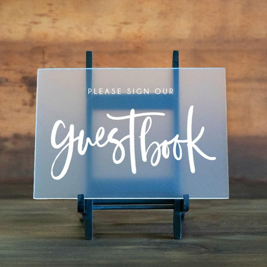 Свадьба - Guestbook Sign-Clear Glass Look Acrylic Sign -Wedding Sign -Wedding Table Sign -Wedding Signage -Wedding Acrylic Sign -Please Sign Guestbook